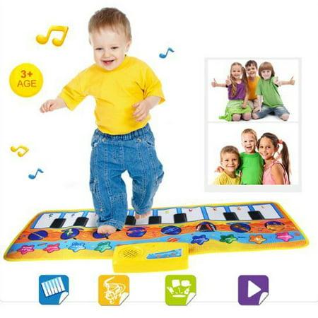 DZT1968New Touch Play Keyboard Musical Music Singing Gym Carpet Mat Best Kids Baby Gift (Gigantic Keyboard Playmat)