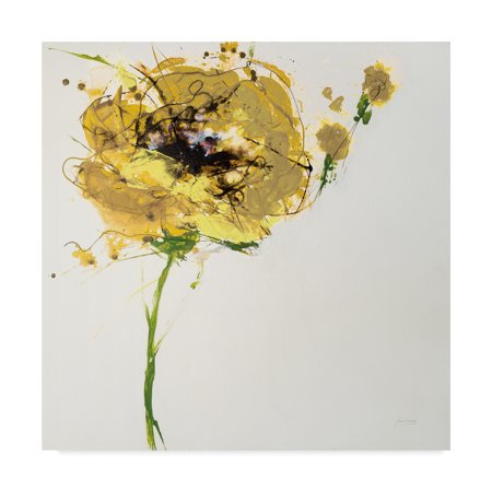 Trademark Fine Art 'Yellow Poppy Master on White' Canvas Art by Jan Griggs ()
