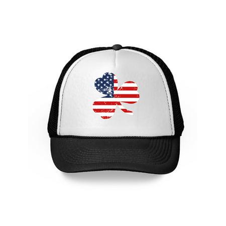 Awkward Styles Irish American Trucker Hat St. Patrick Proud Irish American Gifts Irish Heritage USA Flag Gifts for St Patrick's Day Hat Irish Party Proud Irish American Ireland Trucker Hat Gift (St Pattys Day Hats)