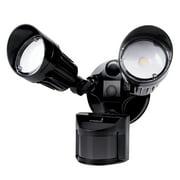 Hyperikon LED Security Light with Motion Sensor, LED Outdoor Flood Light Dusk to Dawn, 20W, 2 Head, Motion Light, 5000K, UL Listed