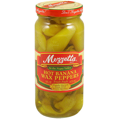 Mezzetta Hot Banana Wax Peppers, 16 oz (Pack of 6)