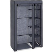 Best Choice Products 6 Shelf Portable Fabric Closet Wardrobe Storage Organizer W Cover And