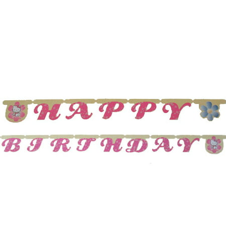 Hello Kitty 'Pastel' Happy Birthday Banner (1ct) for $<!---->