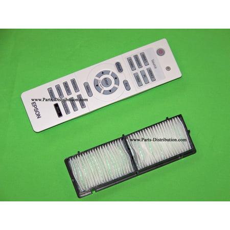 Epson Air Filter & Remote Control PowerLite Home Cinema 8100, 8350, 8500 UB