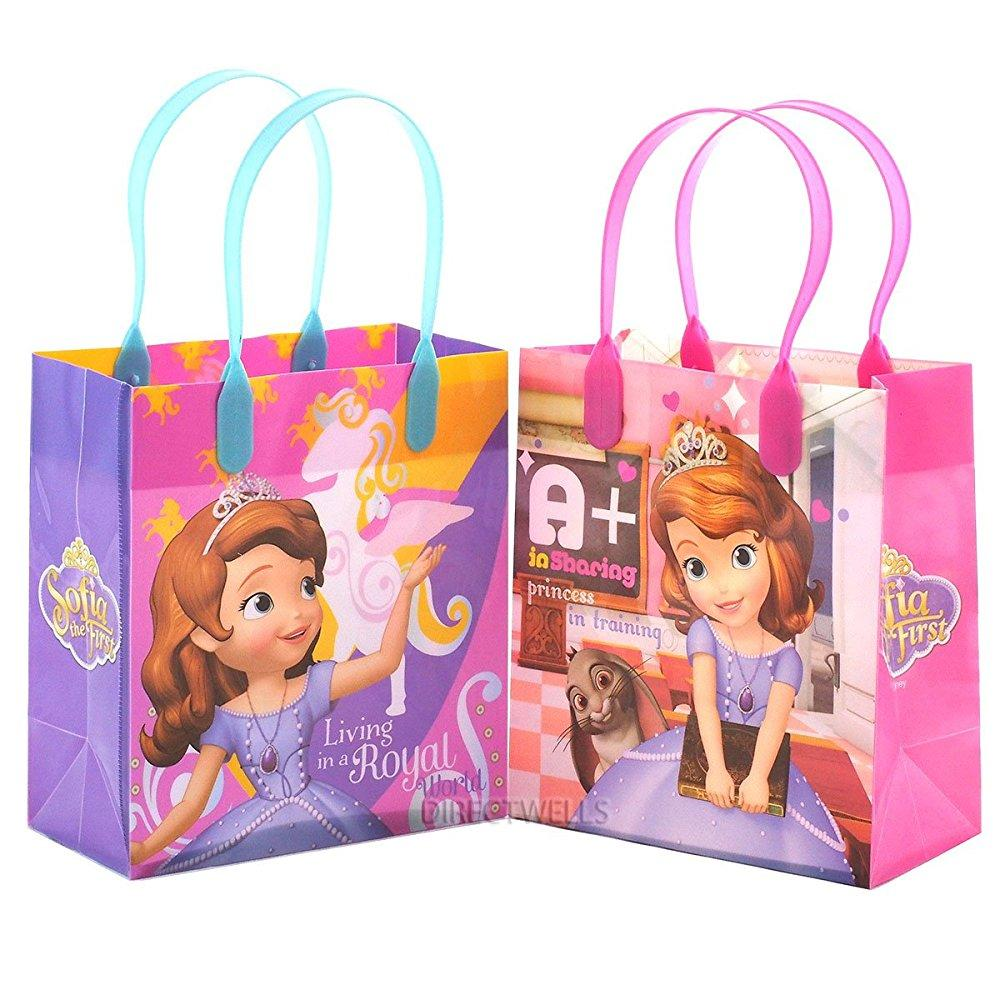 disney princess sofia party favor goody small gift bag (12 bags)