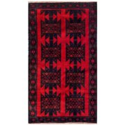 ZallZo Hand Knotted Wool Red Area Rug