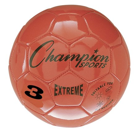 Champion Sports Extreme Soccer Ball, Size 3, White and Yellow