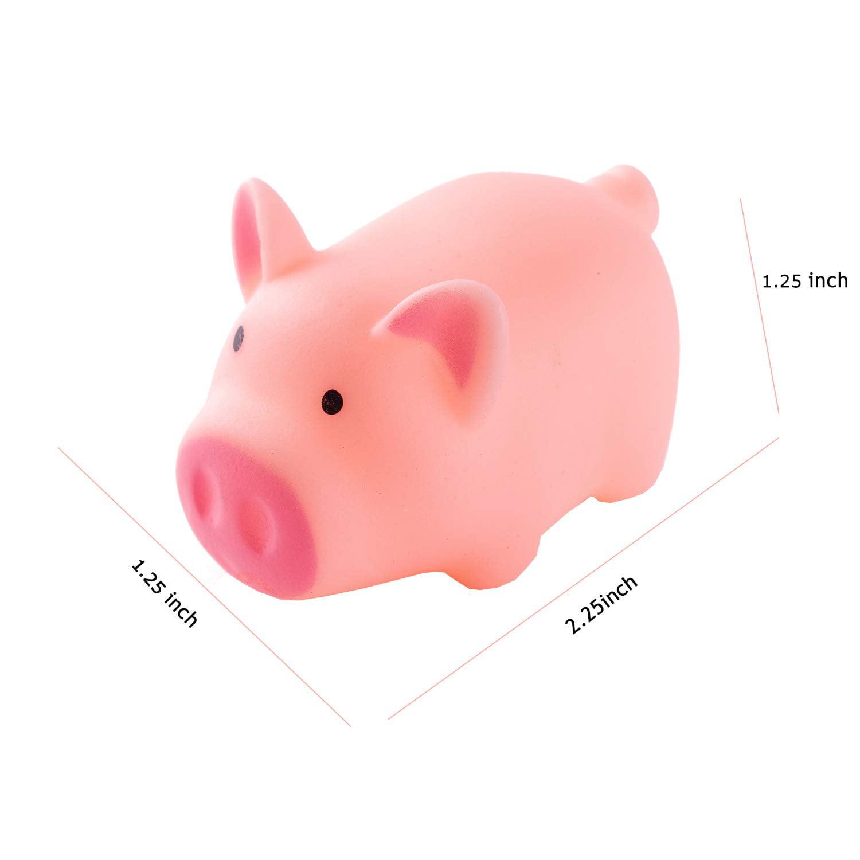 ABOSS 25 Pieces Mini Rubber Pigs Bulk Baby Bath Toy