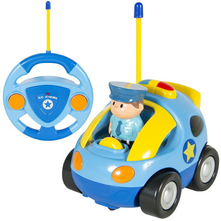 Best Choice Products 2-Channel Beginners Kids Remote Control Cartoon Police Car - (Best Electric Rc Cars)