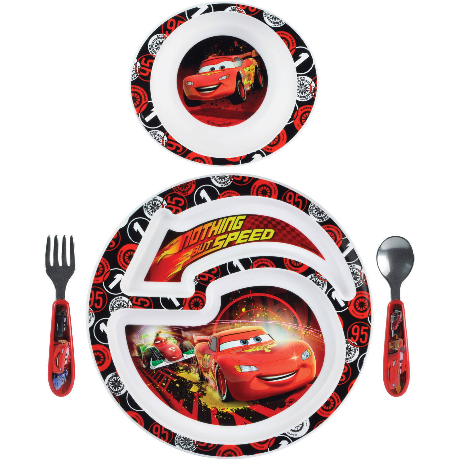 The First Years Disney/Pixar Cars 2 4-Piece Feeding Set, BPA-Free