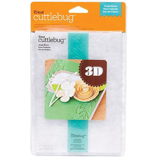 "Cuttlebug 5"" x 7"" 3D Embossing Folder/Border Set, Tropic Bloom"