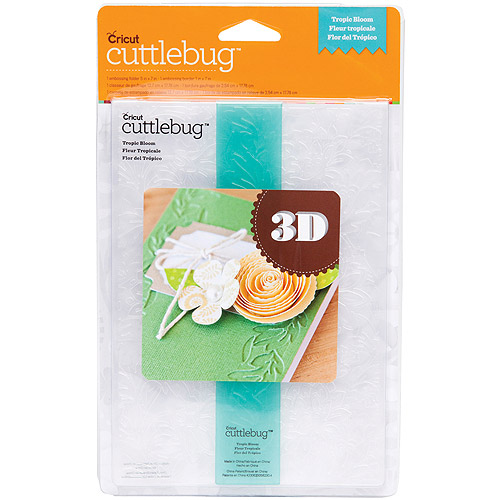 "Cuttlebug 5"" x 7"" 3D Embossing Folder/Border Set, Tropic Bloom"