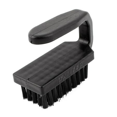 Black Plastic Anti-Static Electronic Cleaning Stiff Bristles Scrub Brush Cleaner