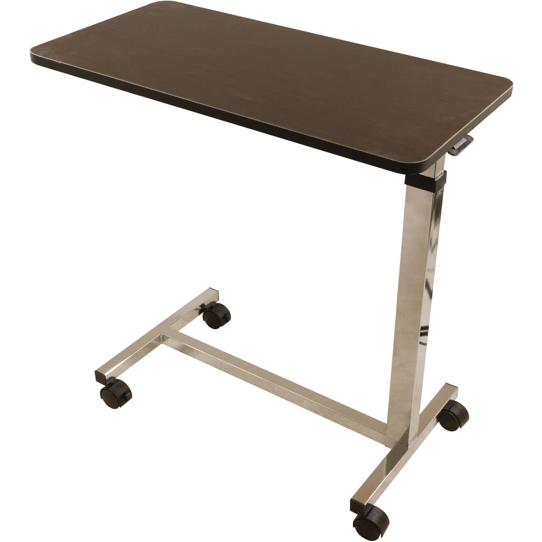 Roscoe Non-Tilt Overbed Table, Brown