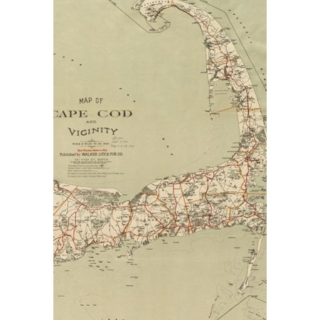 Poetose Notebooks: 1909 Map of Cape Cod and Vicinity: A Poetose Notebook / Journal / Diary (100 pages/50 sheets)