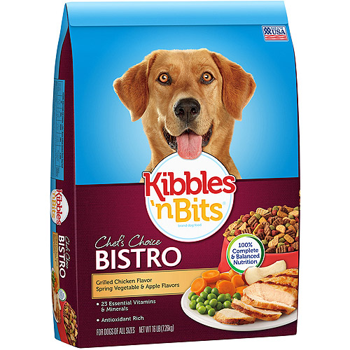 Kibbles 'N Bits Bistro Meals Oven Roasted Dog Food, Grilled Chicken Flavor, 16 lb