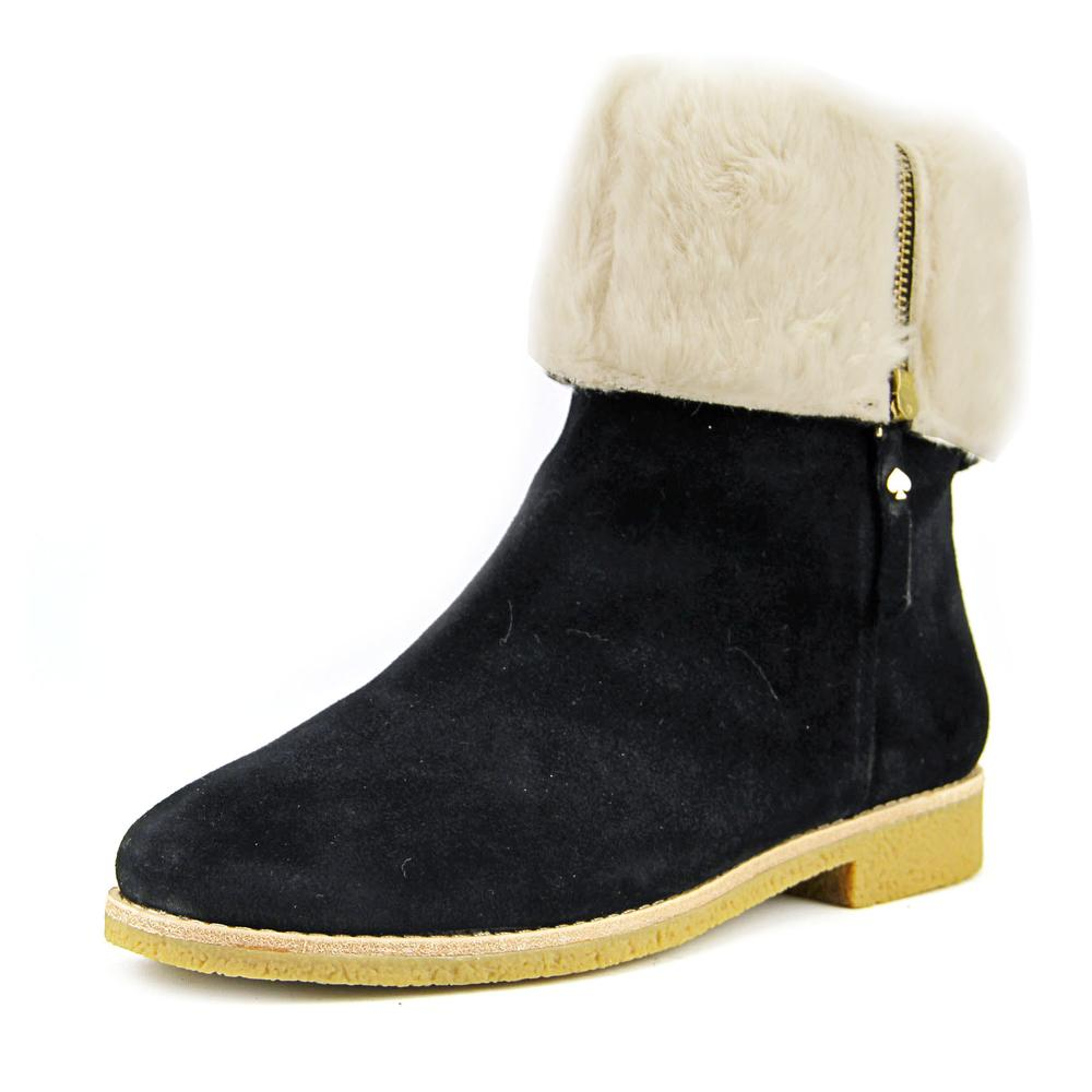 Kate Spade Baja Women Round Toe Synthetic Black Winter Boot by kate spade