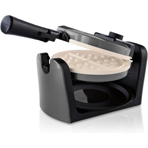 Oster - Duraceramic Flip Waffle Maker - Charcoal