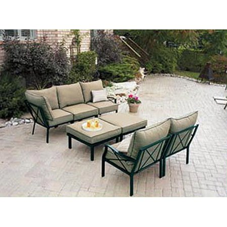 Sandhill 7 piece outdoor sofa sectional set www for Sandhill 7 piece outdoor sofa sectional set replacement cushions