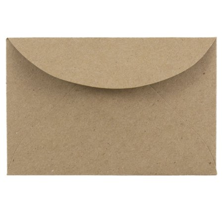 JAM Paper 3 Drug Booklet Envelope, 2 5/16 x 3 5/8, Brown Kraft Paper Bag Recycled, 100/pack