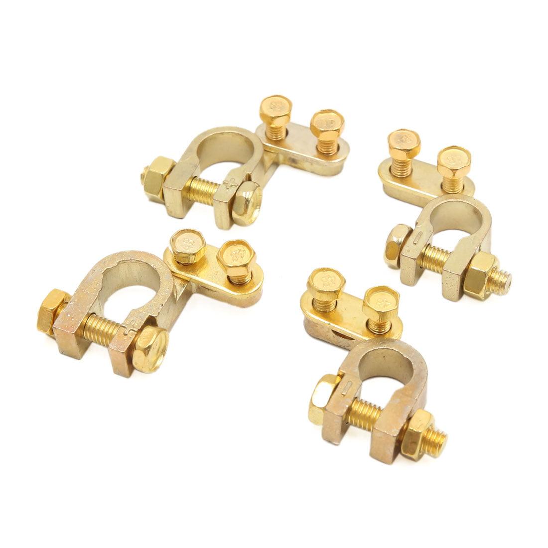 4Pc alliage cuivre doré positive négative batterie Connecteur colliers - image 2 de 2