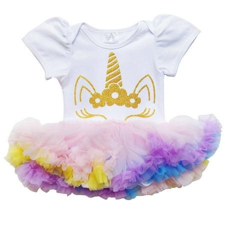 So Sydney Girls Baby Infant Spring & Summer Chiffon Tutu Skirted Romper Set