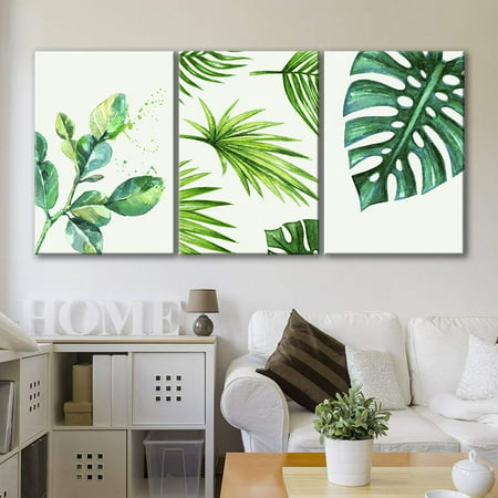 Act Green - wall26 - Style Green Tropical Leaves - Canvas Art Wall Decor - 16