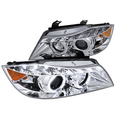 Bmw 3 Series Led (Spec-D Tuning For 2006-2008 Bmw E90 3-Series Led + Chrome Projector Headlights 2006 2007 2008 (Left+Right) )