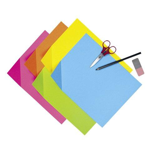 "Pacon Colorwave Super Brite Tagboard - 9"" X 12"" - Bright Pink, Bright Lime, Bright Orange, Bright Blue, Bright Yellow (PAC1709)"