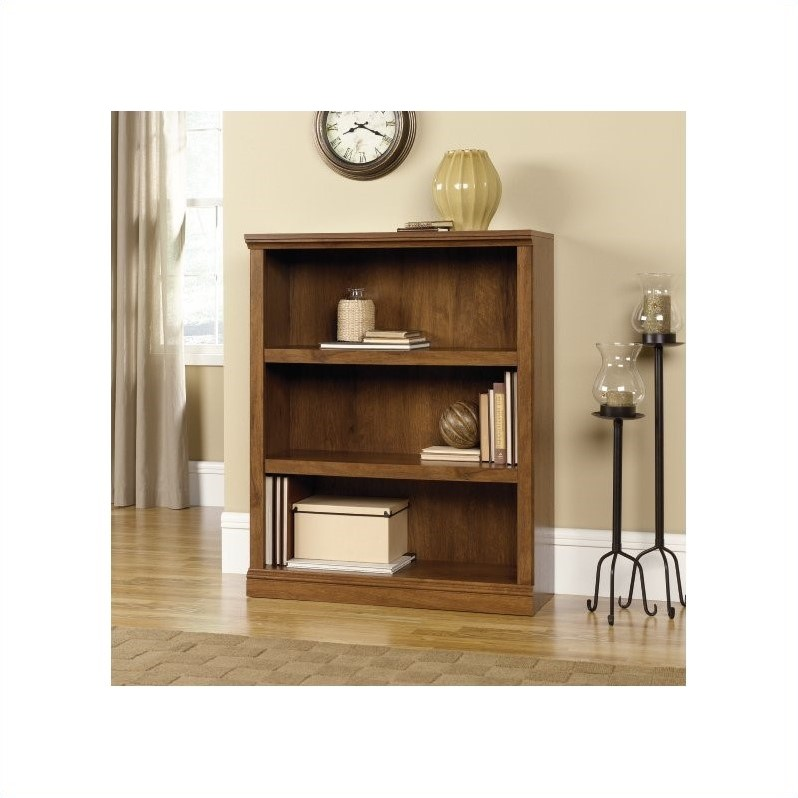 Sauder Select 3 Shelf Bookcase In Oiled Oak Walmart Com