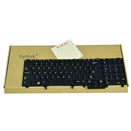 - Eathtek Replacement Keyboard without Backlit and Pointer for Dell Latitude E5520 E5520m E5530 E6520 E6530 E6540 series Black US Layout, Compatible part number 0F5YDT F5YDT
