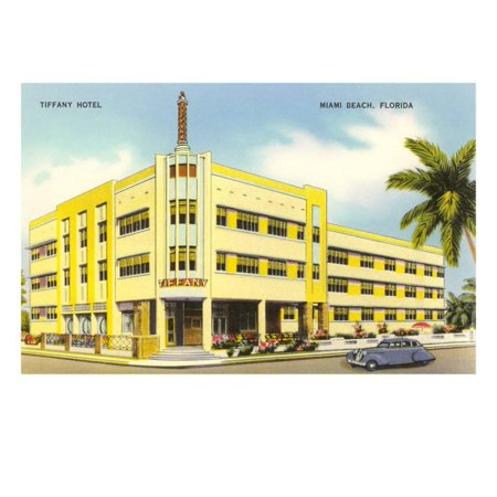 Tiffany Hotel Miami Beach Florida Print Wall Art