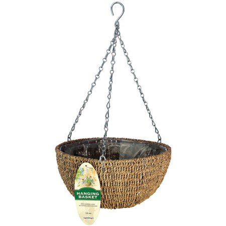 Hanging Baskets Hummingbirds - Gardman R490 14 in Woven Rope Hanging Basket