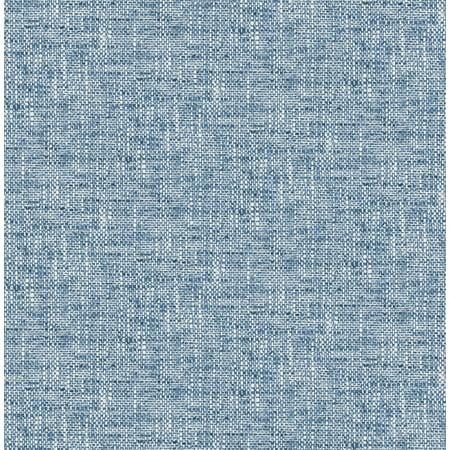 Navy Stripe Wallpaper - NuWallpaper Navy Poplin Texture Peel & Stick Wallpaper