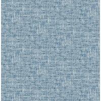 NuWallpaper Navy Poplin Texture Peel & Stick Wallpaper