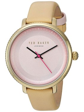 Ted Baker Women's Quartz Gold Tone Stainless Steel/Beige Leather Watch 10031530