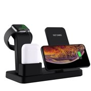 3 In 1 Wireless Charger, Wireless Charging Station Compatible With Apple Watch & AirPods, 10W Qi Fast Wireless Charger Stand Compatible With IPhone 11 Pro Max Xs Max Xs XR X 8 8 Plus, Samsung