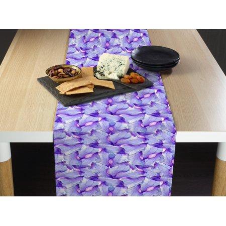 Purple Passion Iris Table Runner 12