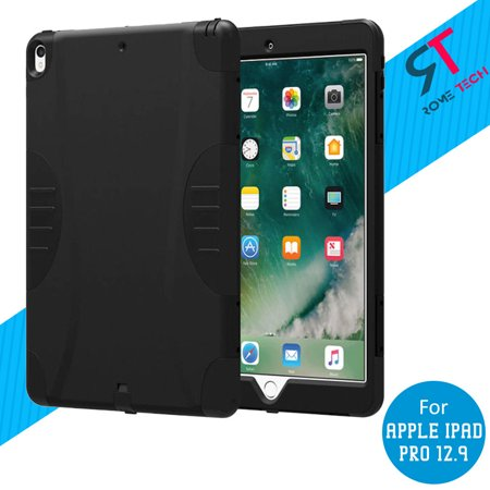 Tech Ipad (Rome Tech Black Rugged Case Cover With Screen Protector For Apple iPad Pro)