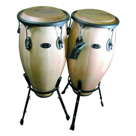 GP Percussion Tunable Wood Conga Set with