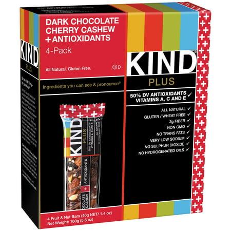 Kind  4 Pack Dark Chocolate Cherry Cashew   Antioxidants 4 1 4 Oz  Bars