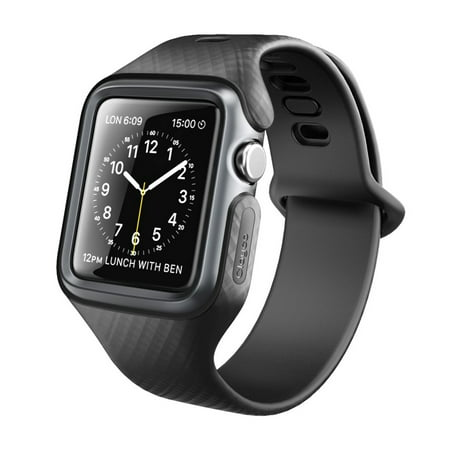 innovative design 7de28 bf6a1 Clayco Apple Watch Band 42 mm, [Hera Series] Ultra Slim Protective Shock  Resistant Bumper Case with Strap Bands for 42mm Apple Watch Series 3 ...