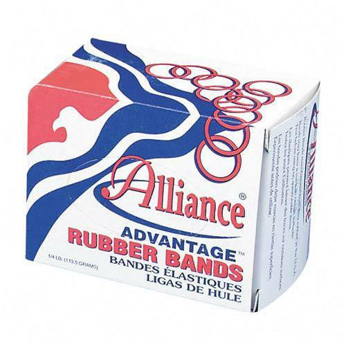 "Alliance Advantage Rubber Bands, #16 - Size: #16 - 2.5"" Length x .063"" Width - 4 oz. Box - Natural"