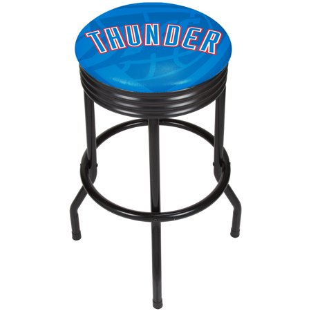 NBA Black Ribbed Bar Stool - Fade - Oklahoma City - Costume Stores In Oklahoma City