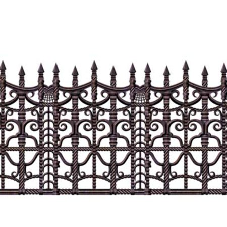 Pack of 6 Insta-Theme Creepy Fence Halloween Border Decorations 30' - Border Halloween
