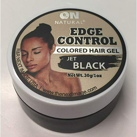 On Natural Edge Control Hair Colored Gel, Jet Black, 1