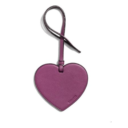 Berry Metallic Trim Leather Heart Handbag Purse Charm Not Applicable ()