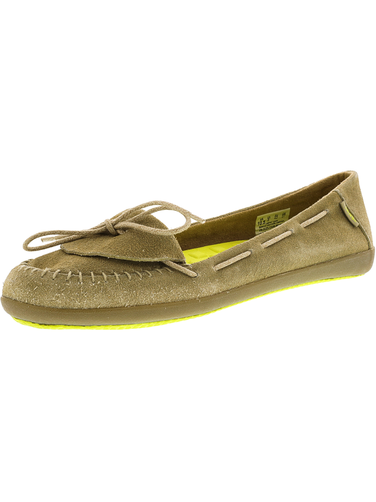 Vans Women's Alpaca Camel Ankle-High Leather Slip-On Shoes - 10.5M
