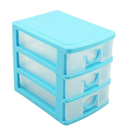 Candy Color Three Layers Mini Draw-out Desk Storage Box Container - - Drw Chest