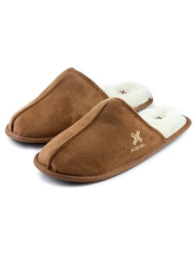 8afb43cc69316 Product Image Roxoni Mens Warm Winter Slippers-Scuff Style-Sizes 7 to  13-Faux Sheepskin
